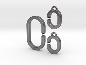 Medium ring set in Polished Nickel Steel