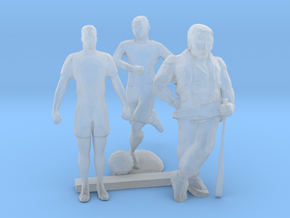 O Scale Soccer and Baseball Players in Smooth Fine Detail Plastic