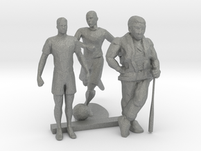 S Scale Soccer and Baseball Players in Gray PA12