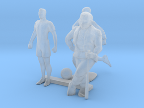 HO Scale Soccer and Baseball Players in Smooth Fine Detail Plastic