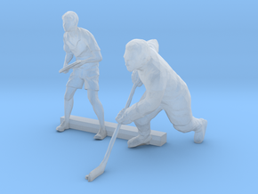 S Scale Tennis and Hockey Players in Smooth Fine Detail Plastic