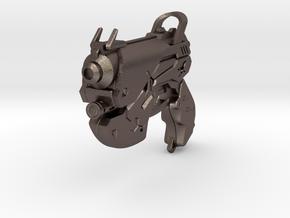 DVA Pistol keychain in Polished Bronzed-Silver Steel