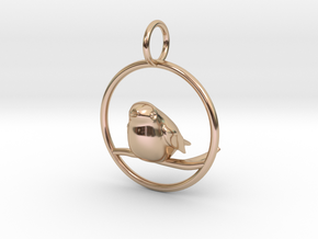 Robin Pendant in 14k Rose Gold Plated Brass