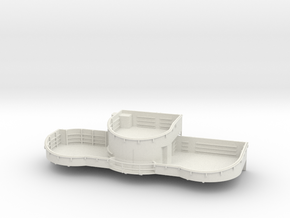 1/96 USN midship 4th deck starboard gun tub bofors in White Natural Versatile Plastic