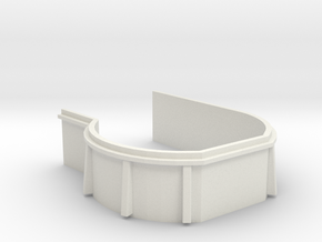 1/96 USN bow main deck port 20mm gun 1x tub in White Natural Versatile Plastic