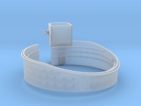 1/96 USN 40mm Quad Gun Tub Forecastle Port in Smooth Fine Detail Plastic