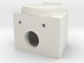 "Faux angled MU box 1.5"" scale in White Natural Versatile Plastic"