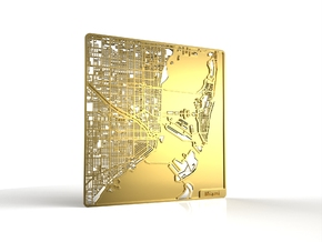 Miami in 18k Gold Plated Brass