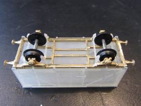 HJ Vogn N scale (BOTTOM PARTS 2-2) in Natural Brass