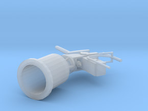 1/96 Scale 2 Pounder Sub Calibre Single Mount in Smooth Fine Detail Plastic