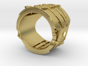 Dead Space Engineering Suit lvl3 ring - 19,3mm in Natural Brass