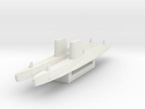 Guppy III x2 1/1800 in White Natural Versatile Plastic