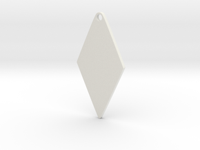 Cosplay Zipper Pull (Rhombus) in White Natural Versatile Plastic