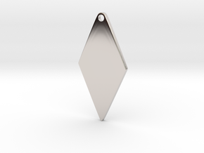 Cosplay Zipper Pull (Rhombus) in Rhodium Plated Brass