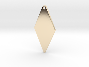 Cosplay Zipper Pull (Rhombus) in 14k Gold Plated Brass