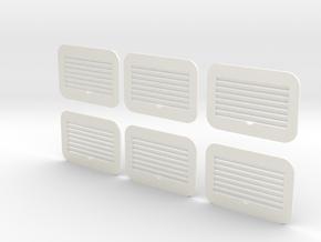 1.7 GRILLES BELL412 in White Processed Versatile Plastic