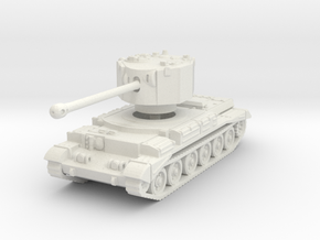 Challenger tank scale 1/100 in White Natural Versatile Plastic