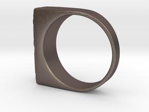 Moonwalk Ring  in Polished Bronzed Silver Steel: 7 / 54