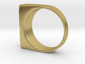Moonwalk Ring  in Natural Brass: 7 / 54