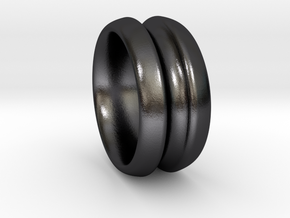 Yo' Ring in Polished and Bronzed Black Steel