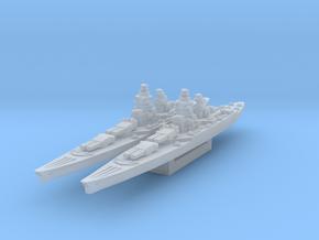 Richelieu battleship (1943 post-refit) in Smooth Fine Detail Plastic