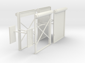 1/48th Truck shop or warehouse door set in White Natural Versatile Plastic