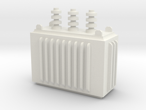 Electricity Transformer in White Natural Versatile Plastic