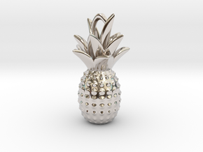 Tropical kiss in Rhodium Plated Brass