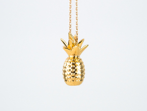 Tropical kiss in 14k Gold Plated Brass