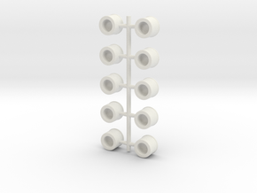 Mini Number Sprue! -NUMBERS in White Natural Versatile Plastic