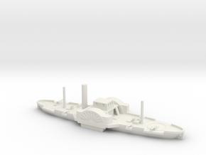 1/600 Double-Ended Gunboat in White Natural Versatile Plastic