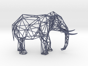 Wire Elephant in Natural Full Color Sandstone
