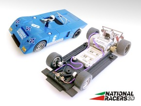 Chassis - Fly Chevron B19/B21 (SW)  in Black PA12