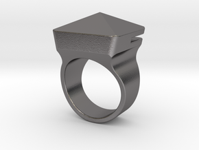 Car Escape Ring [v2] by ishap9.dsn in Polished Nickel Steel