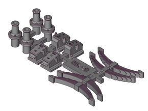MR 7mm Scale Wagon Oil Axleboxes, Springs and  Pla in Smooth Fine Detail Plastic