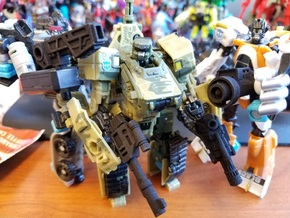 5mm PCC Autobot Weapons in Black Natural Versatile Plastic