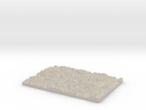 Model of Premia in Natural Sandstone