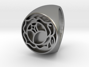 Utena Signet Ring Size 4.5  in Natural Silver