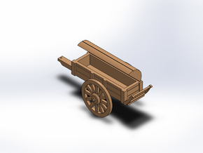 ARTILLERY BATTERY WAGON OPEN in White Natural Versatile Plastic