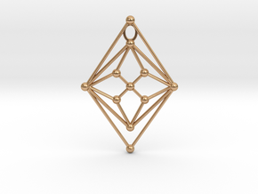 GH Pendant in Polished Bronze