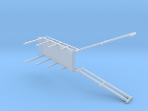 N BARGE LIVESTOCK RAMP in Smooth Fine Detail Plastic