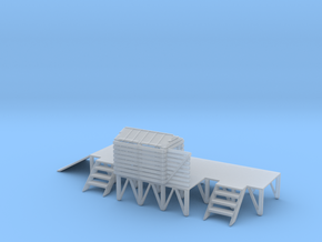 N BARGE LOADING PLATFORM in Smooth Fine Detail Plastic