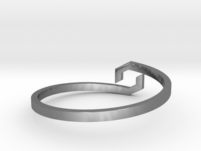 GAIA - Bracelet in Polished Silver: Extra Small