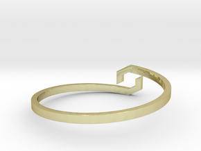 GAIA - Bracelet in 18k Gold Plated Brass: Medium