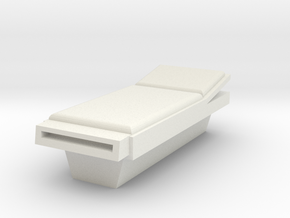 HO Scale Incline Bed in White Natural Versatile Plastic
