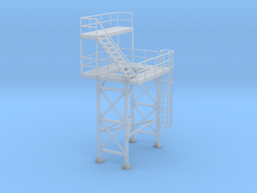 1/87th Cement concrete batch plant tower in Smooth Fine Detail Plastic