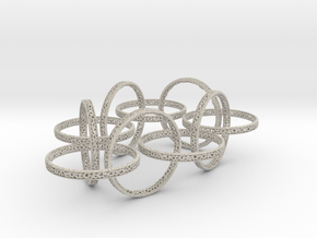 Ten hoop voronoi bracelet 7.5 inches approximately in Natural Sandstone