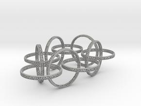 Ten hoop voronoi bracelet 7.5 inches approximately in Aluminum