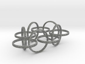 Ten hoop voronoi bracelet 7.5 inches approximately in Gray PA12