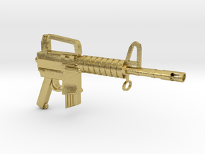 CAR15 SMG in Natural Brass